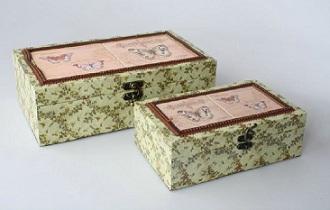 Cajas de madera metal o cart n cajas de t costureros y - Como decorar una caja de metal ...