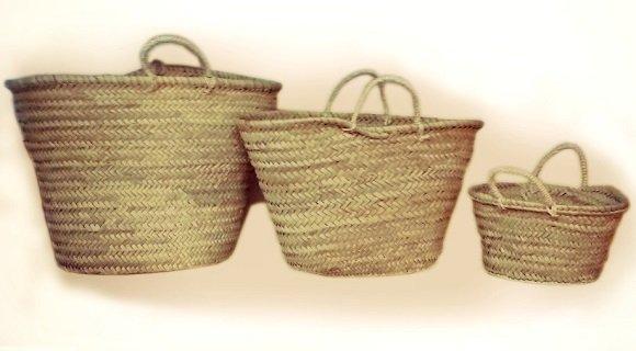 Capazos de palma o mimbre para customizar tienda de decoraci n online y cester a barcelona - Capazo mimbre playa ...