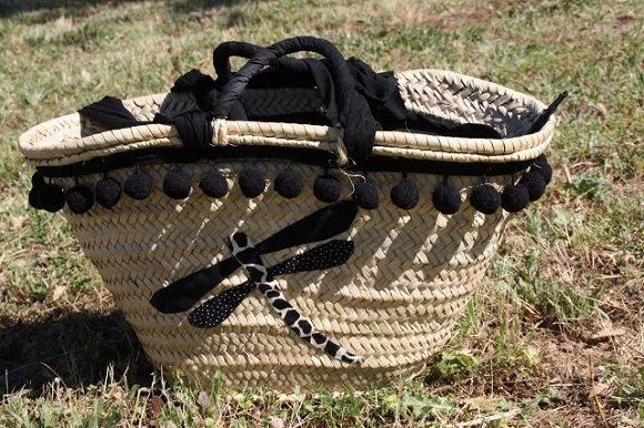 Customizando capazos de palma o bolsos de verano tienda - Capazos de mimbre decorados ...