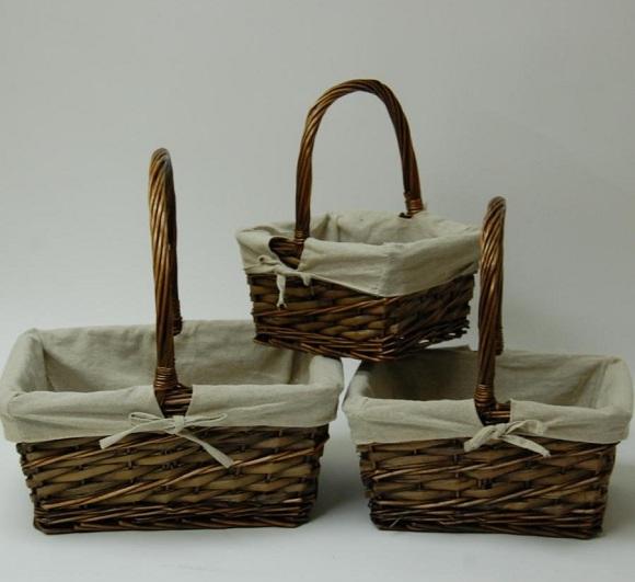 Cestas de mimbre tienda de decoraci n online y cester a barcelona - Como forrar cestas de mimbre ...