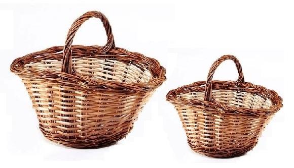 cestas de mimbre para setas