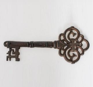 Perchero de pared rústico de hierro colado o llave