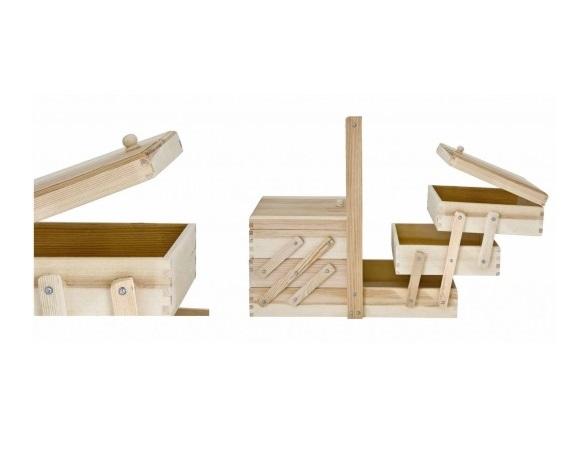 Costurero completo de madera