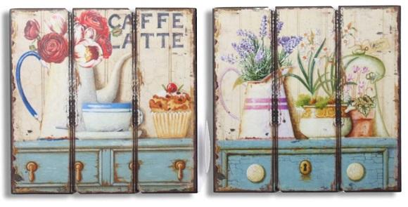Cuadros decorativos de estilos romantico y provenzal for Cuadros para cocina vintage