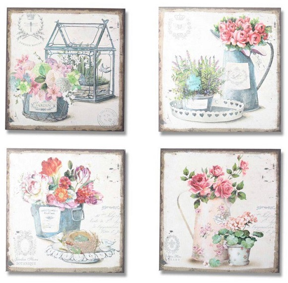 Cuadros decorativos de estilos romantico y provenzal - Cuadros cocina vintage ...