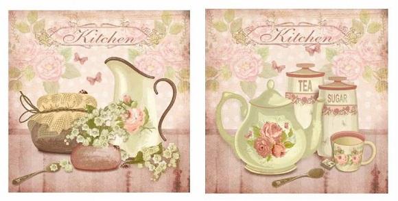 Cuadros decorativos de estilos romantico y provenzal - Laminas para cuadros de cocina ...