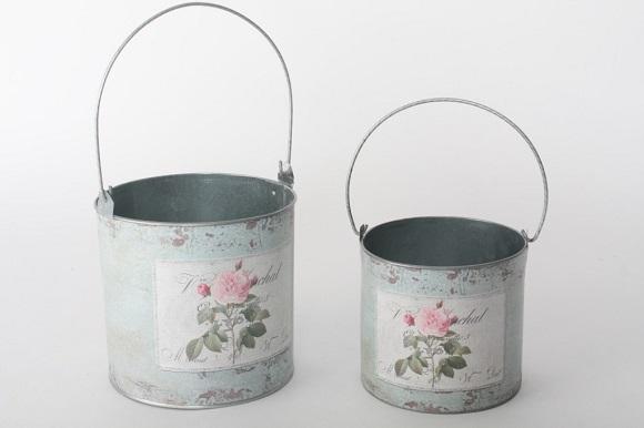 Cubo de decoración vintage