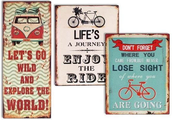 Placas con mensaje