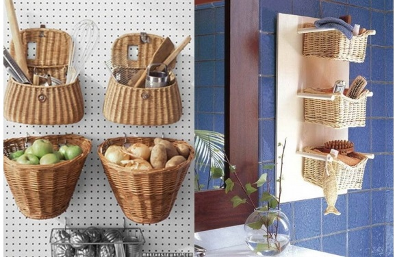 Decorar con cestas de mimbre tienda de decoraci n online for Estanterias de mimbre