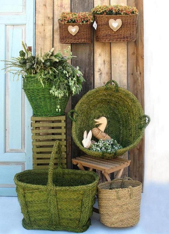 Decorar con cestas de mimbre   Tienda de decoración online ...