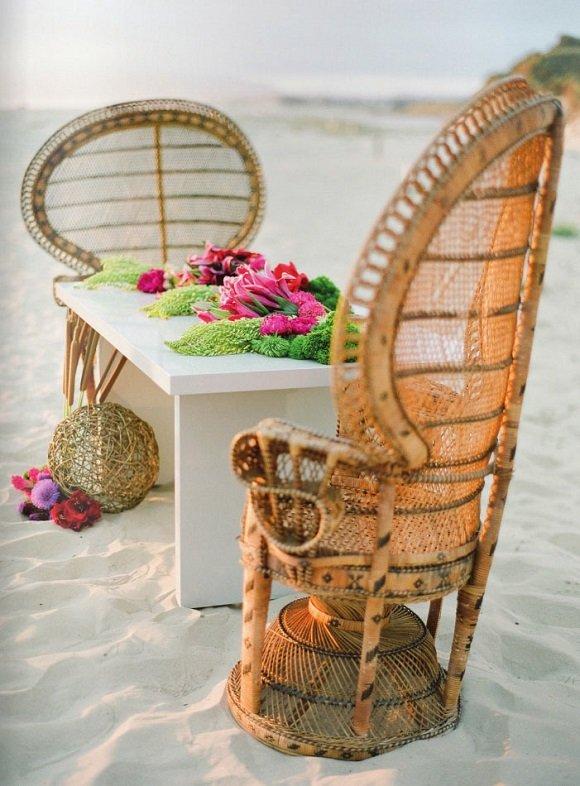decorando con cestas de mimbre