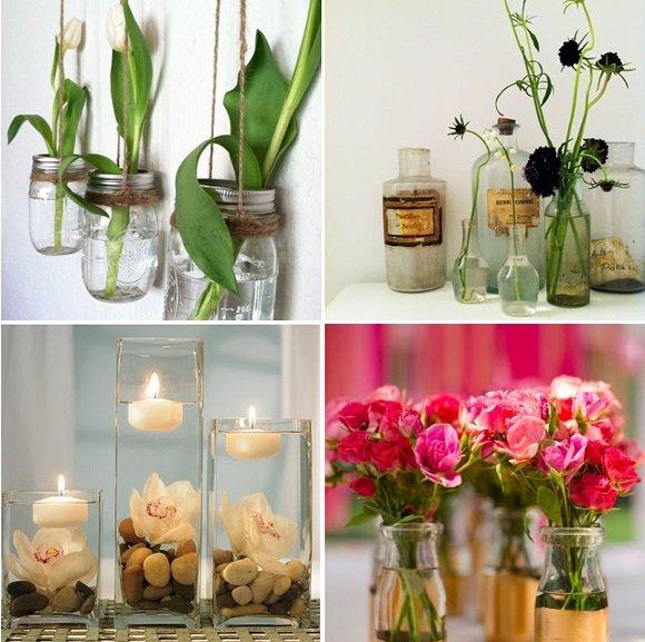 Frascos de perfume y botes de vidrio vintage tienda de for Decoracion de frascos de vidrio para cocina