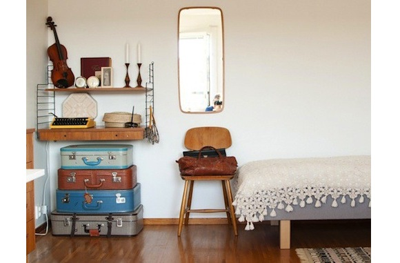 Ambientes con maletas decorativas vintage