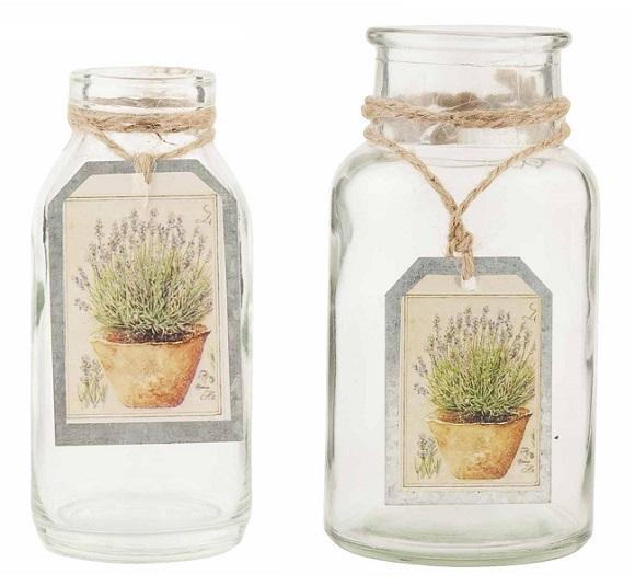 Frasco de vidrio vintage