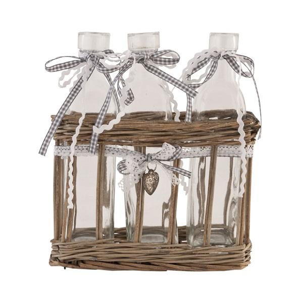 frascos de vidrio vintage