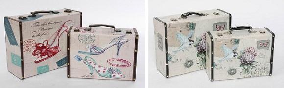 Ambientes vintage con maletas decorativas tienda de for Maletas antiguas online