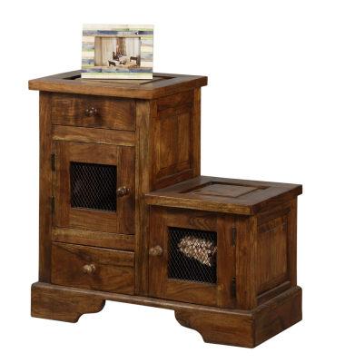 Mueble r stico colonial tienda de decoraci n online y - Mueble recibidor rustico ...