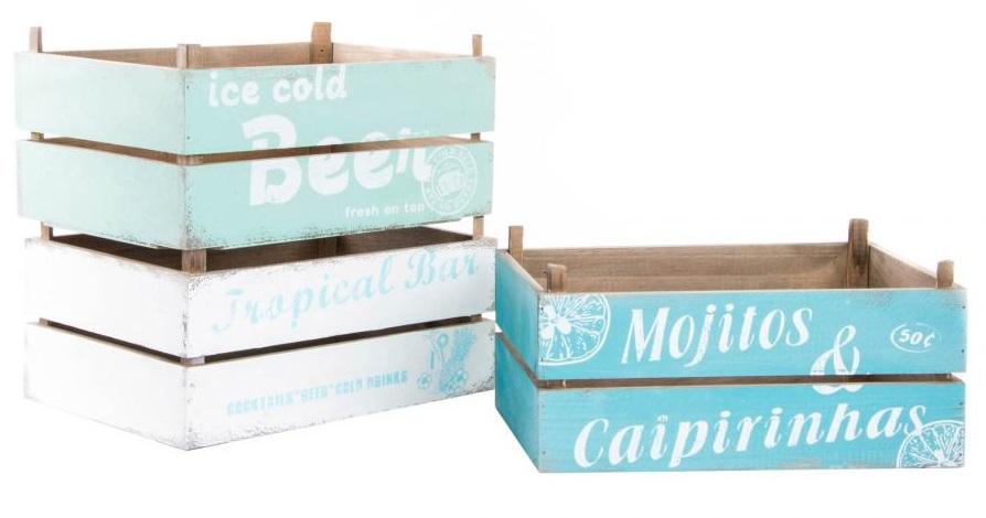 Cajas de té de estilo nórdico o vintage