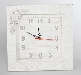Reloj de pared rústico o vintage