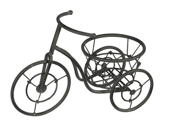 triciclo de forja para jardín
