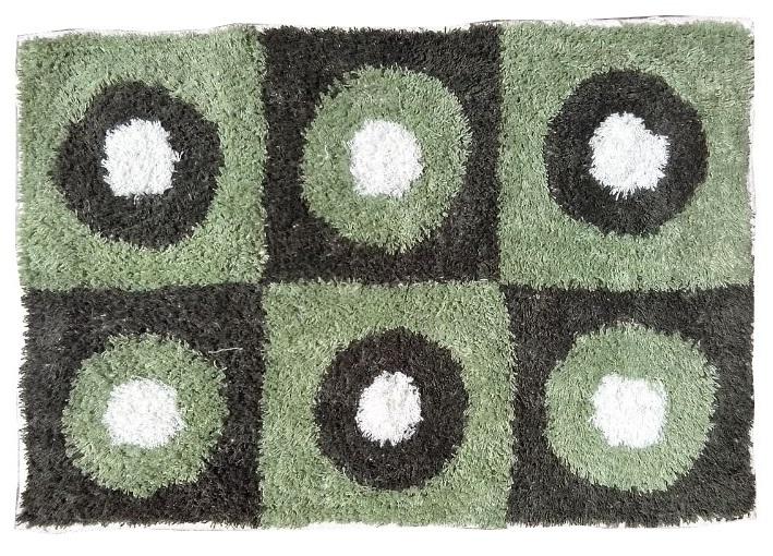 Comprar alfombra de ba o de algod n c rculos 60x40 cm for Alfombras de algodon indias