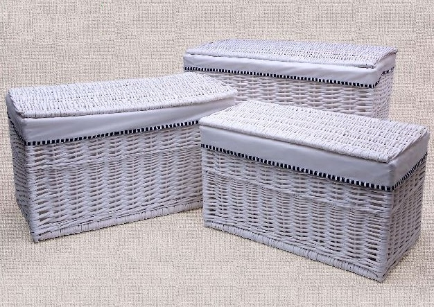 Comprar cestas para la ropa sucia o roperos y ba les de - Baul mimbre blanco ...