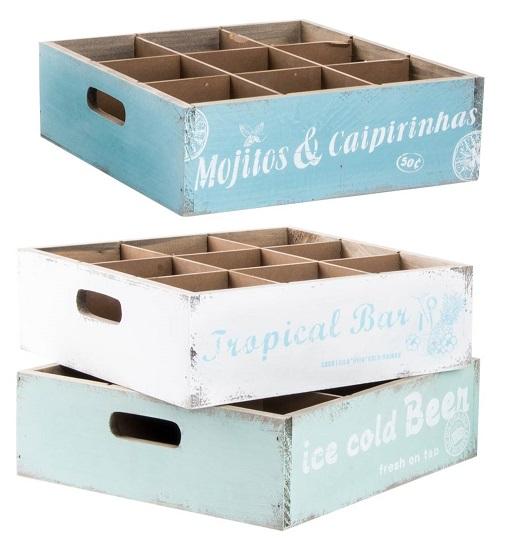Comprar caja de madera vintage 3 colores disp 34x24x16 6 cm ld 125717 en birdikus tienda - Cajas de madera online ...