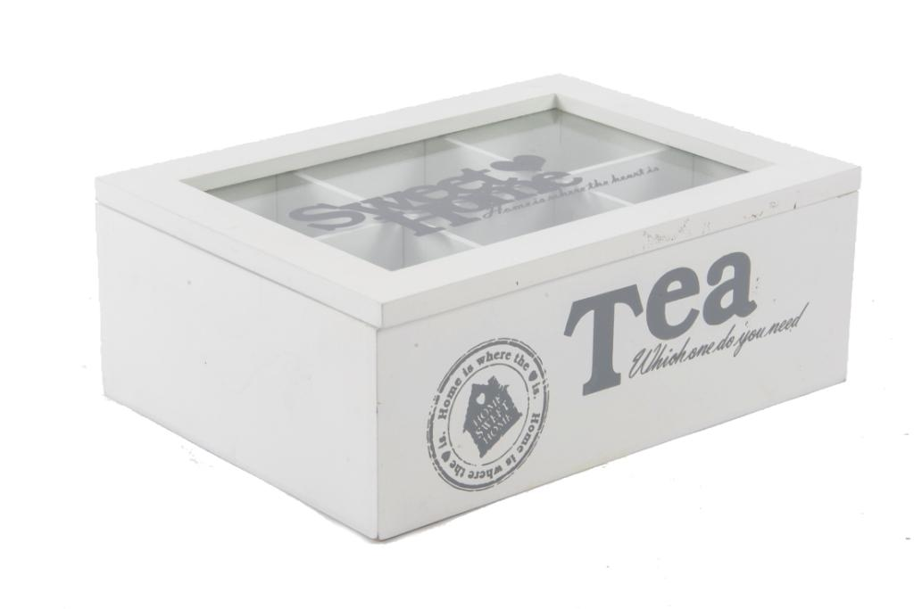 Caja de madera para el t for Cajas de madera blancas