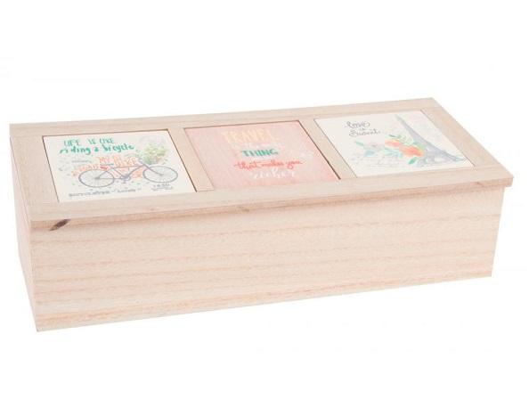 caja de madera para el t