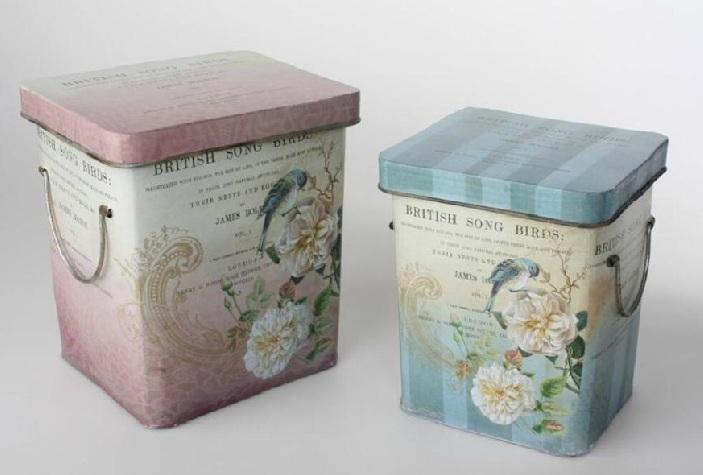 Comprar caja de metal vintage decorativa peque a ld - Cajas de madera decorativas ...
