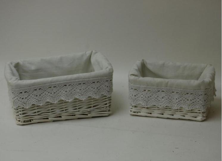 Cajones cajas y canastos de mimbre rat n y otras fibras - Como adornar cestas de mimbre ...