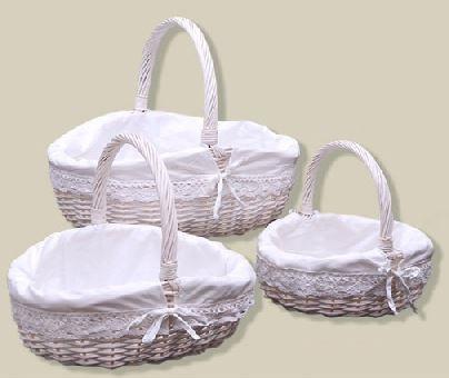 Bautizo y boda decoraci n recuerdos de bautizo detalles - Como adornar cestas de mimbre ...