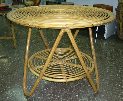 Comprar mesa de ca a redonda 80x61 cm taca 03 y en - Mesas de mimbre ...