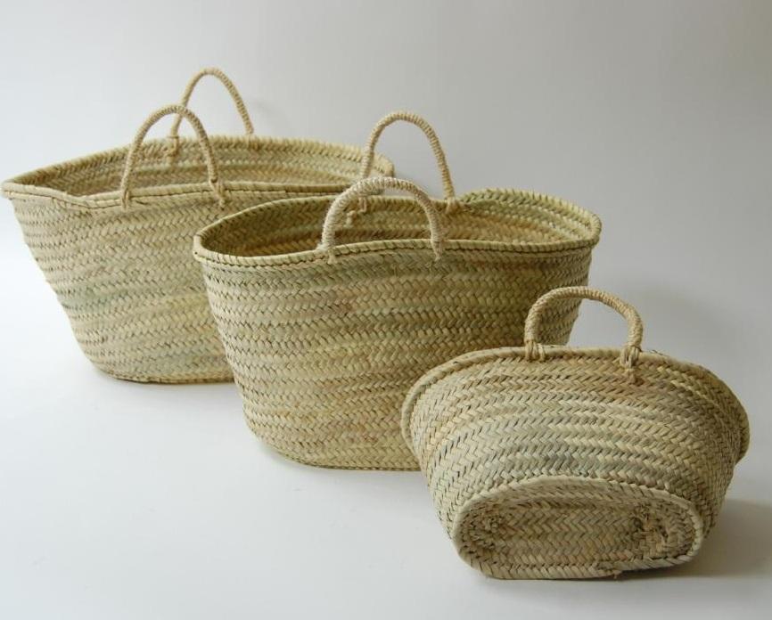 Mimbre  Capazos de palma o cestas para la compra Leñeros de esparto