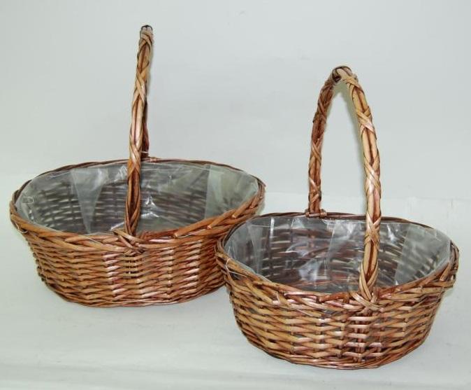 Comprar cestas de mimbre baratas y cestas para setas tienda online birdikus - Como forrar cestas de mimbre ...