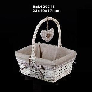Comprar cestas de mimbre baratas y cestas para setas - Como forrar una cesta de mimbre ...
