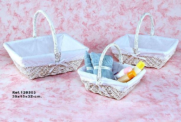 Comprar cesta de mimbre blanca canastilla s 28x21x11 25 - Cestas de mimbre ikea ...
