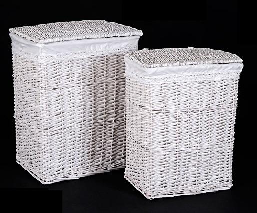 Comprar cestas para la ropa sucia o roperos y ba les de mimbre rat n y otros materiales - Cestos de mimbre blanco ...