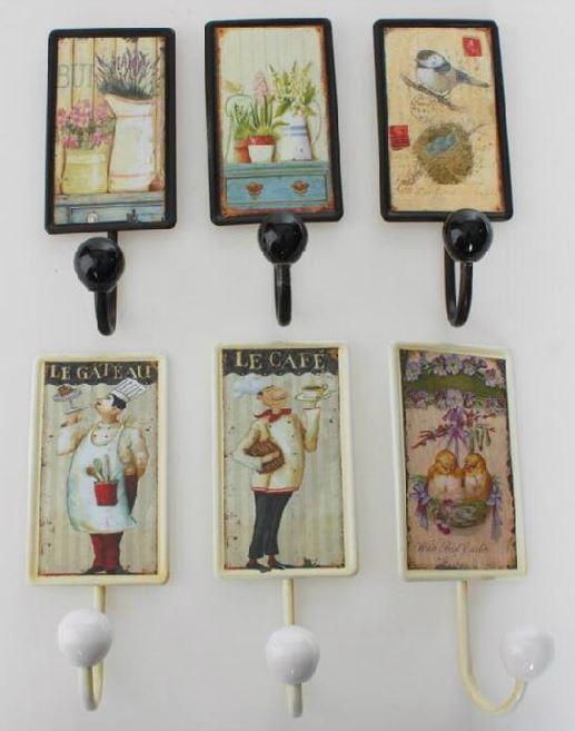 Comprar colgadores de pared estilo vintage provenzal for Colgador toalla bano