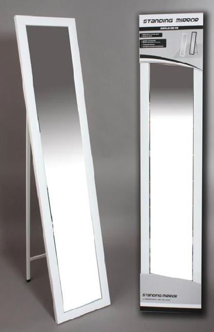 Comprar espejo de pie blanco vestidor 33x158 cm es for Espejo pie blanco