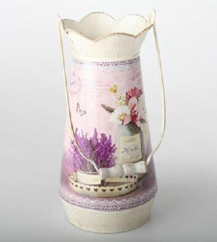 Comprar lechera de decoraci n provenzal lavanda 13x28 cm - Decoracion provenzal online ...