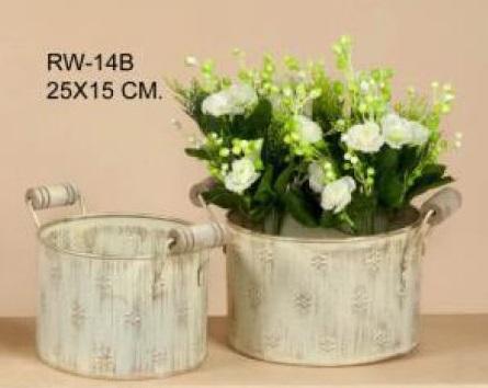 Comprar macetero de decoraci n provenzal metal 43x17x14 - Decoracion provenzal online ...