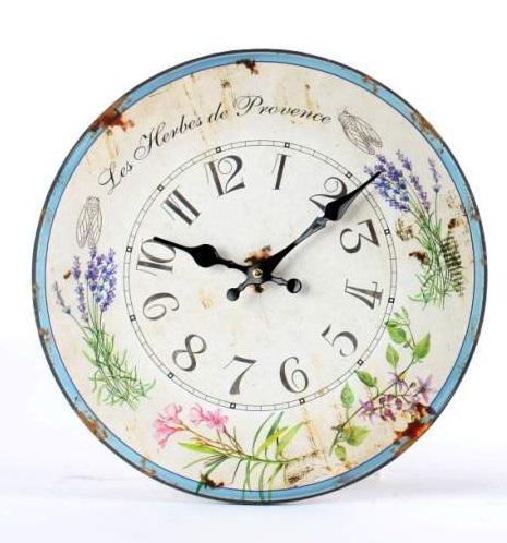Comprar reloj de pared provenzal lavanda 32 cm re - Relojes vintage de pared ...