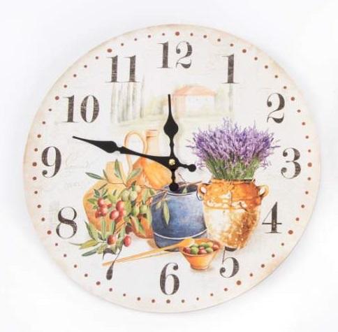 Comprar reloj de pared vintage lavanda 34 cm re 117198 - Relojes vintage de pared ...
