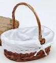 Wicker basket, covered