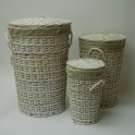 Wicker and Rattan Laundry Baskets, chests