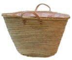 Palm shopping Baskets, covered