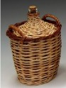 Covered wicker cylinder