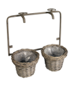 Wicker flowerpot holder