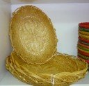 Wicker bread basket or tray